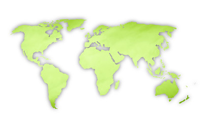 Green color world map illustration