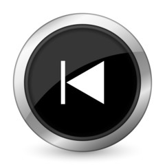 previous black icon