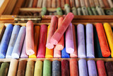 Fototapety Colorful chalk pastels in box close up