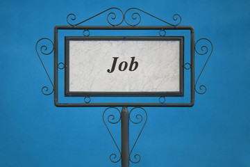 "The Word ""Job"" on a Signboard"