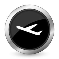 deparures black icon plane sign