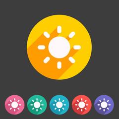 Sun badge flat icon sign set symbol