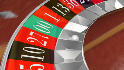 Roulette Wheel Landing On Double Zero