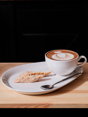 capuccino and Italian pastries