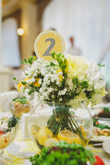 table number, wedding decor