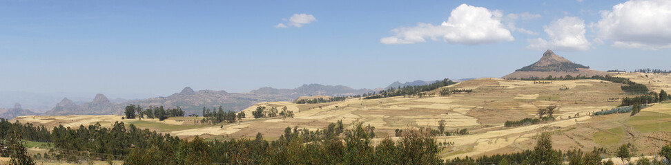 Landschaft um Gondar, Äthiopien, Afrika