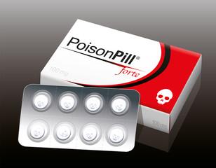 Poison Pill Blister Package Skull