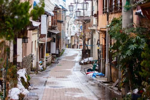 Foto op Plexiglas Japan Hot spring resort town Shibu Onsen