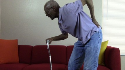 Senior Citizen with back pain