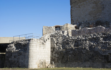 Diosgyor castle and fortress ruins in Hungary, day time