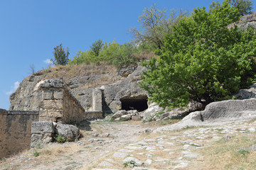 Chufut-Kale - medieval cave city fortress, Bakhchysarai, Crimea