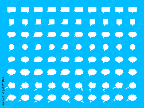 Vector Speech Bubble Set