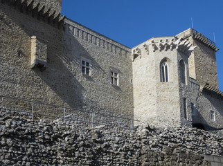 Closeup detail of Diosgyor castle in Hungary, old ruins