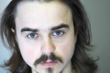 Closeup portrait of  man with beard