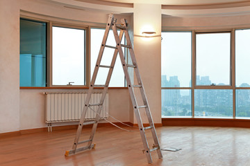 Ladder in room