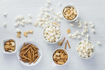 Snacks background