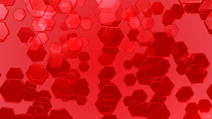 red exagons background