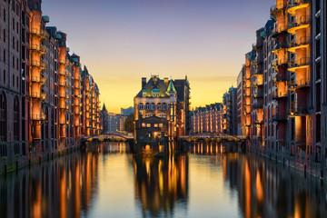 Die historische Speicherstadt in Hamburg