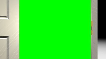 Door Opening Green Screen Transition