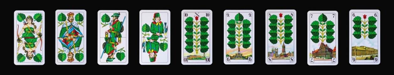 Spielkarten - Schafkopf und Tarock in GRÜN