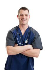 Male nurse in scrubs