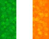Abstract St Patrick's day background with irish flag colors