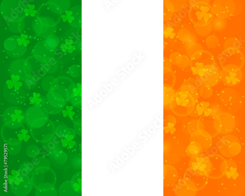 Abstract St Patrick's day background with irish flag colors - 79529571