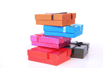 Gift boxes - Stock Image
