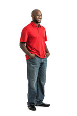 Handsome black man portrait
