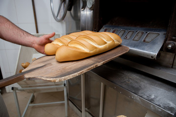 Hot fresh baked bread