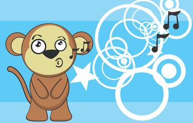 cute monkey cartoon background