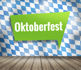 Bavaria Oktoberfest Munich Flag Wood Background