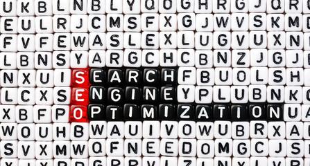 SEO ,Search Engine Optimization cubes