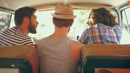 In high quality format hipster friends on road trip