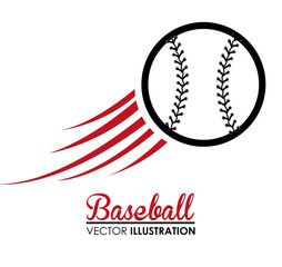 Baseball design, vector illustration.