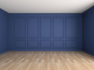 Empty interior 3d rendering