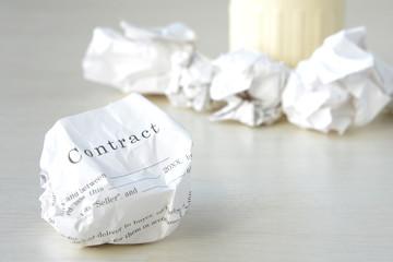 ビジネスイメージ―契約破棄