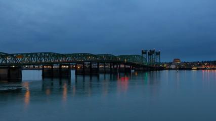 Time Lapse of Traffic on Columbia River Crossing Bridge