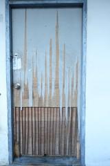 Wallpaper wood door