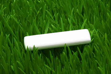 flash card on green grass