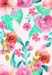 Watercolor floral seamless pattern - 79536786