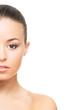 Beauty portrait of a healthy brunette woman