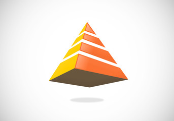 pyramid 3D geometry vector logo