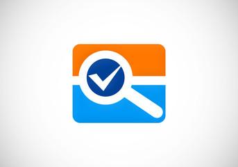 search survey option vector logo
