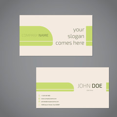 Simplistic business card design with slogan