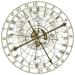 Metal Astronomical Clock