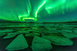 Northern lights (Aurora borealis) reflection - 79539521