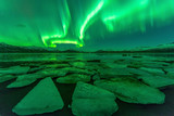 Northern lights (Aurora borealis) reflection