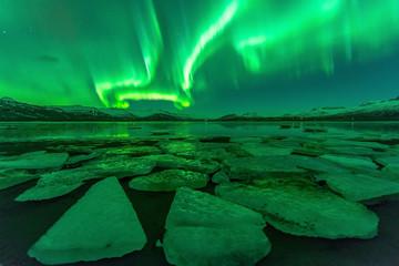 Northern lights (Aurora borealis) reflection