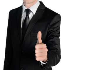 Business man ok sign